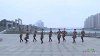 湖南资兴东江木材厂广场舞队 雪山姑娘 表演 个人版 正背面口令分解动作教学演示