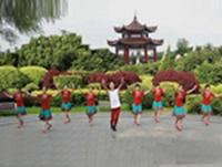 福州塔头阳光姐妹广场舞 雪山姑娘  表演 团队版 附正背表演口令分解动作分解教学