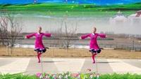 美丽秋霜广场舞《草原的月亮》原创附教学口令分解动作演示