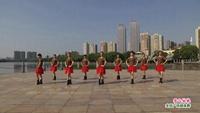 南昌茉莉花姐妹舞蹈队广场舞 雪山姑娘 表演 团队版 正背面口令分解动作教学演示