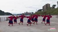 清家堰社区广场舞 雪山姑娘 表演 正背面演示及慢速口令教学