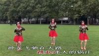 巴黎肖蒙公园健身舞《雪山姑娘》完整版演示及分解教学演示