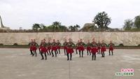 靖安石下红蜡烛广场舞 雪山姑娘 表演 团队版 原创附正背面教学口令分解动作演示