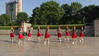 赤壁房产小区健身队广场舞 雪山姑娘 表演 团队版 完整版演示及口令分解动作教学