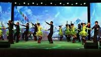 珠江杯广场舞大赛之金银铜三步踩《雪山姑娘》附正背表演口令分解动作分解教学