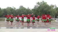 郑州市高新区通和社区舞蹈团1队广场舞 雪山姑娘 表演 团队版 口令分解动作教学演示