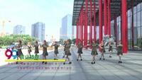 武汉沌口快乐舞蹈队广场舞 雪山姑娘 表演 团队版 附正背表演口令分解动作分解教学