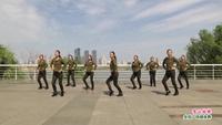 南昌西湖区观洲健身舞蹈队广场舞  雪山姑娘 表演 团队版 附正背表演口令分解动作分解教学