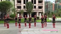 玉山舞动人生舞蹈队广场舞  雪山姑娘 表演 团队版 正背面口令分解动作教学演示