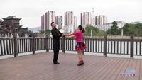 闵远军与王焕珍交谊舞 雪山姑娘 表演 双人版 正背面演示及口令分解动作教学和背面演