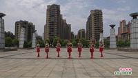 新余加州红叶健身队广场舞  雪山姑娘 表演 团队版 原创附正背面教学口令分解动作演示