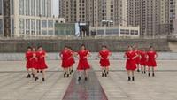 张家山槎市墙房健身队广场舞 雪山姑娘 表演 团队版 正背面演示及口令分解动作教学和背面演