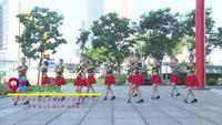 武汉沌口舞动青春舞蹈队广场舞 雪山姑娘 表演 团队版 口令分解动作教学演示