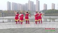 江苏盐城毓龙巧姐妹广场舞 美丽的雪山姑娘 表演 团队版 经典正背面演示及口令分解动作教学