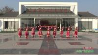 江苏盐城射阳海通健身舞蹈队广场舞  雪山姑娘 表演 团队版 正背面演示及慢速口令教学