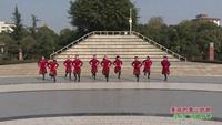 四川绵阳塔水英姿舞队广场舞  美丽的雪山姑娘 表演 团队版 正背面演示及口令分解动作教学