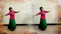 上饶阳光健身广场舞《雪山姑娘》演示晨练者附正背表演口令分解动作分解教学