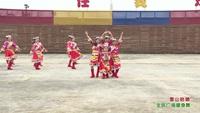 绵竹市汉旺镇牛鼻村舞蹈队 雪山姑娘 表演 团队版 口令分解动作教学演示
