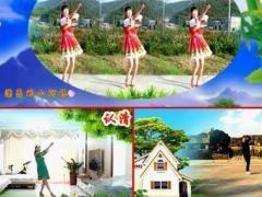 上海伟伟广场舞《溜溜山寨溜溜醉》原创异地姐妹合屏完整版演示及分解教学演示