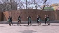 盤錦市自由自在舞蹈俱樂部 只愿一生陪著你 表演 團隊版 正背面演示及慢速口令教學