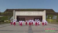 绵阳市中江县滨江之花舞蹈队 美丽的雪山姑娘 表演 团队版附正背面口令分解教学演示