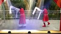 江东舞蹈队广场舞雪山姑娘,表演小夏和美丽人生口令分解动作教学演示