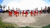 河南开心舞蹈队【雪山姑娘】队形版;编舞廖弟'正背面演示及慢速口令教学
