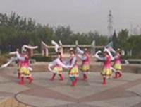 圣星舞广场舞 雪山姑娘 表演 正背面演示及慢速口令教学