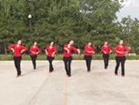 陕西洛川老庙英姿广场舞 敖包再相会 表演 正背面演示及口令分解动作教学和背面演