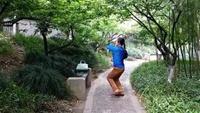 靖江背面分解舞蹈《桃花运》正面练习及分解正背面演示及口令分解动作教学和背面演