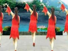 湘湘阳光舞蹈队《桃花运》原创32步恰恰附分解教学正背面演示及慢速口令教学