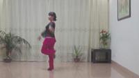 沙县体育公园舞蹈《桃花运》正背面演示及口令分解动作教学