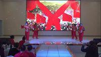 德陽天元姐妹舞蹈隊《張燈結彩》參加羅江老體協聯誼會 正背面口令分解動作教學演示
