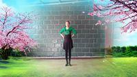 月光特亮舞蹈【老妹你真美】编舞心存美好表演春天的 正反面演示及分解动作教学
