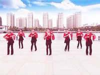 南陵三里輕舞飛揚廣場舞 張燈結彩 表演 完整版演示及分解教學演示