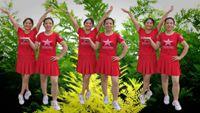 丽丽自由舞蹈《映山红 》原创双人水兵舞附教学 正背面演示及口令分解动作教学和背面演