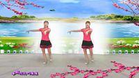 杭州花儿舞蹈《桃花运》简单恰恰 正背面口令分解动作教学演示