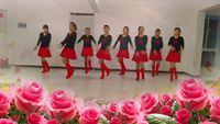 甘肃美好舞蹈团队版《桃花运》编舞;花飞情雪 口令分解动作教学演示