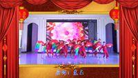 雨天廣場舞《張燈結彩》12人長扇隊形舞 口令分解動作教學