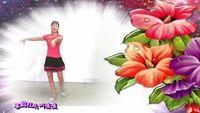 杭州花儿舞蹈《桃花运》 正背面演示及口令分解动作教学和背面演