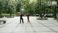 海韵《吉特巴A》第三节讲解和演示,王雄老师与邬彩凤老师正背表演与动作分解双人版 原创附教学口令分解动作演示