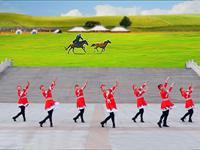 立华舞蹈临盘明星队舞蹈 雕花的马鞍  正背面附口令教学 表演 团队版 口令分解动作教学演示