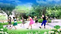 水仙花廣場舞《花開的時候你就來看我》原創附教學口令分解動作演示
