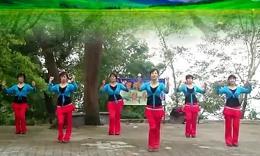 大湾群联广场舞《映山红》原创健身操 正背面演示