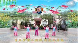 福清清荣花园广场舞《雁影纷飞》原创舞蹈 团队正背面演示