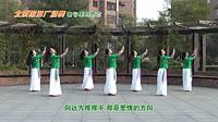 北京加州广场舞《山谷里的思念》编舞杨艺 团队正背面演示