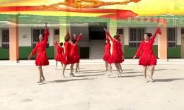 歡樂榮榮廣場舞《張燈結彩》原創舞蹈 團隊演示