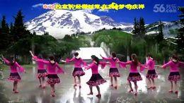 荆州楚悦广场舞《美丽的雪山姑娘》原创舞蹈 团队演示