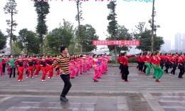 凤凰六哥广场舞《草原的月亮》参加红乔开心广场舞第一届联谊活动