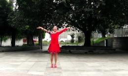 兴梅广场舞原创舞蹈《草原的月亮》正背面演示 分解教学